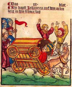 Verkehrsunfall 1414: Johannes XXIII Wagen kippt um